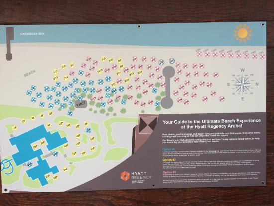 Hyatt Regency Aruba Resort And The New Towel Hut Policy Map