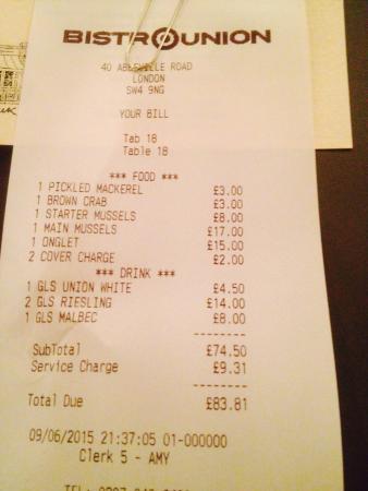 Bistro Union: Delicious steak for such a reasonable price.