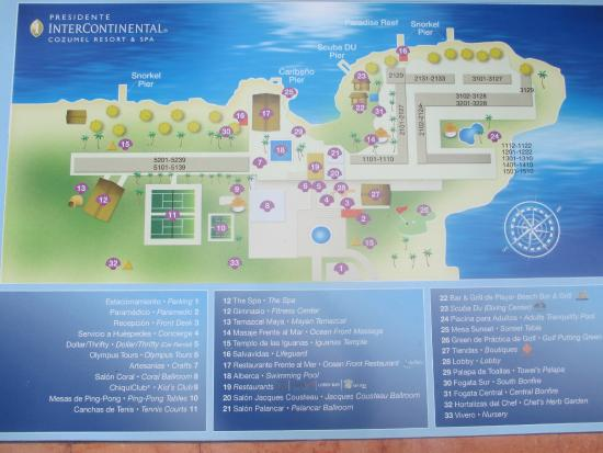Presidente Inter-Continental Cozumel Resort & Spa: Map