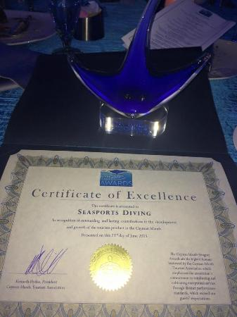 Seasports Diving: 2015 Certificate of Excellence AND Water sports Employee of the Year
