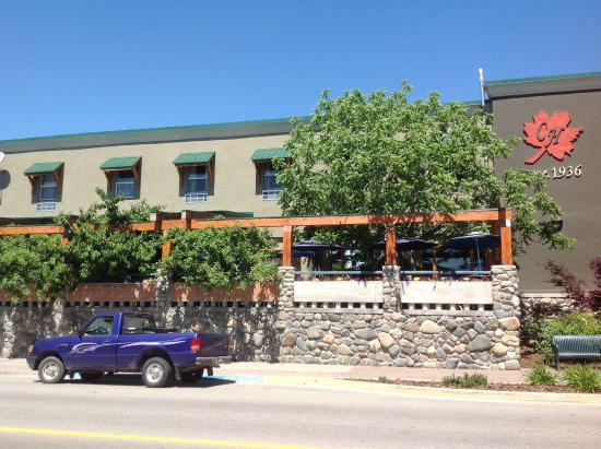 Jimmy's Pub and Grill: private patio in the shade of mature trees