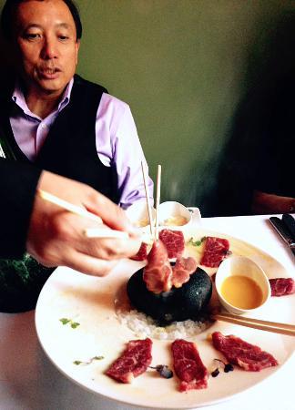 1515 Restaurant: Gene Tang presenting 7X Waygu Beef