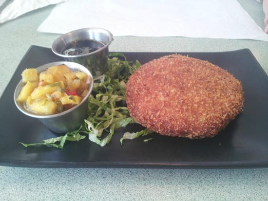 Caribbean crab cake. Excellent! - Picture of Rosie's Cafe & Grill ...