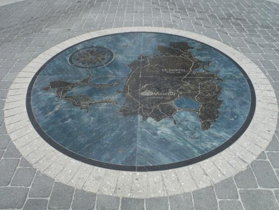 Wathey Square: Map of the island of St. Maarten