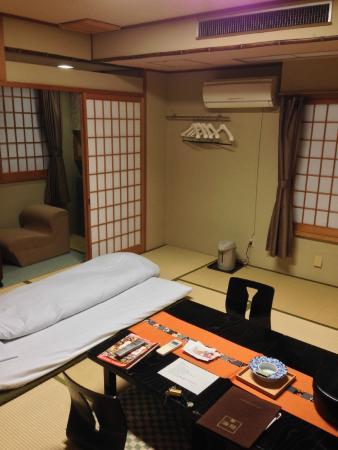 Ryokan Kohro: la habitación tiene varios rincones que explorar