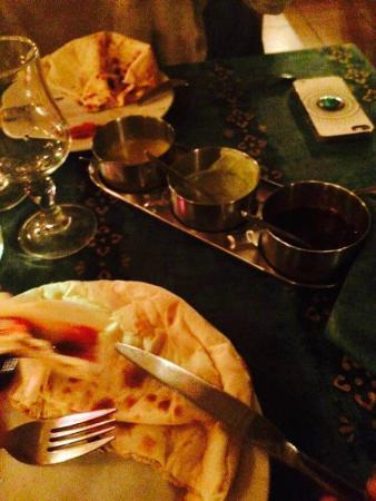 Rajasthan : Menu très copieux et très très bon