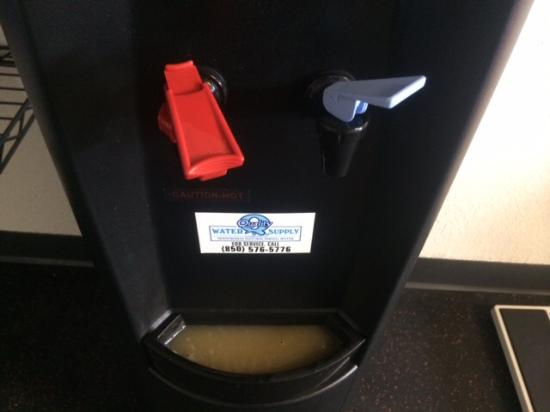 Wyndham Garden Tallahassee Capitol: The dark mystery slush in the gym water cooler