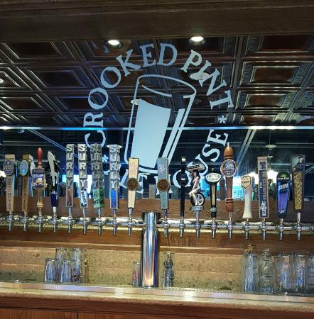 Crooked Pint Ale House: Plenty of beers on tap; but only one Amber.