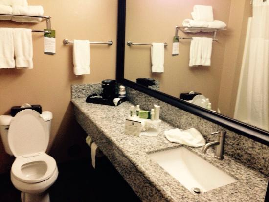 Best Western Plus Coldwater Hotel : Room was very nice and clean!  Bathroom had a wonderfully large vanity.  Breakfast was good and