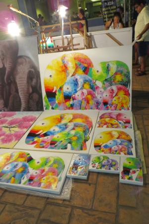 Elephant Paintings - Picture of Warorot Market (Kad Luang ...