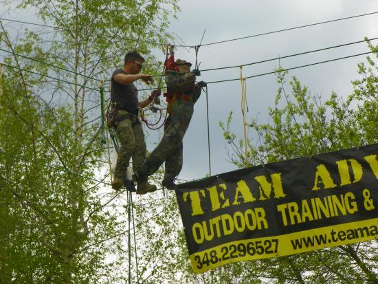 Team Adventure : Il tutor monta un manichino