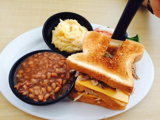 Barb and Wally's Down South Barbecue: Great pulled pork! Their beans are awesome and we enjoyed their cheesy potatoes!