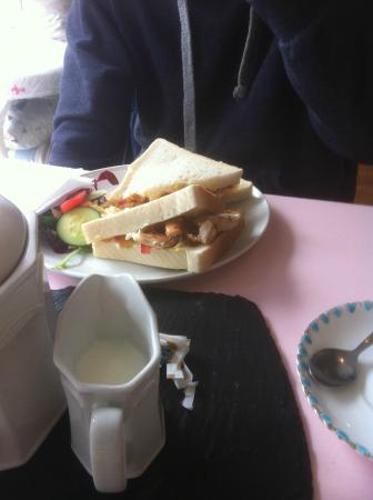 Brie Cranberry And Salad On Rye Picture Of Tiffins Tea