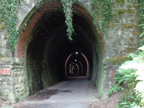 Instow, UK: Illuminated tunnel