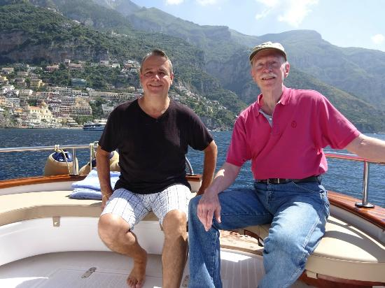 Restart Boat: Our arrival to Positano