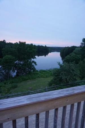 Wyoming, RI: View of the river from the deck