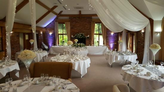 wedding tables layout westerham golf club restaurant breakfast area