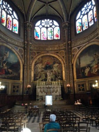 París, Francia: The Church of St Eustace, Paris