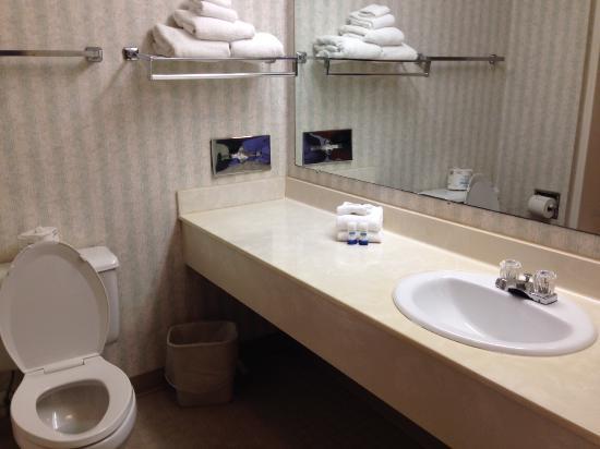 Best Western Olympic Inn: bathroom vanity