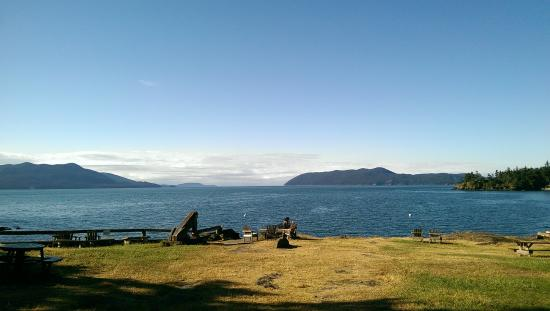 View of Doe Bay from outside the cafe - Picture of Doe Bay ...
