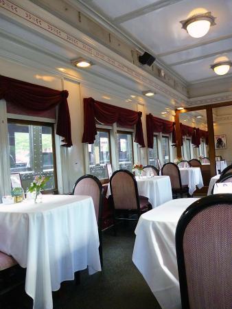 Essex, CT: The restored dining car.