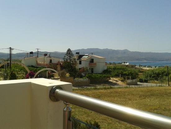 Theros Hotel: View towards Kolymbari from balcony