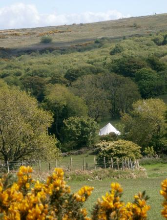 ‪‪Seventh Heaven Glamping Ltd‬: Our tent from a nearby hill‬