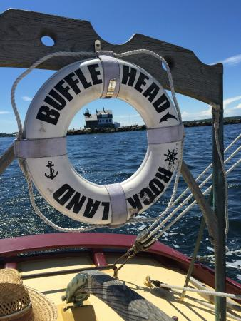 Bufflehead Sailing Charters: First lighthouse in the eye of the preserver on board