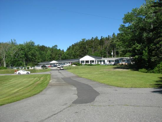 Southport, ME: View of motel from near the water's edge