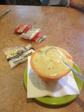 Momma Spriggs Restaurant: Crab asparagus soup