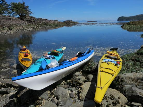 God's Pocket Resort: Kayaks in the sun