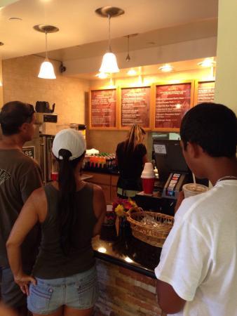 Ippy's Hawaiian Barbeque: Menu board and drink cooler