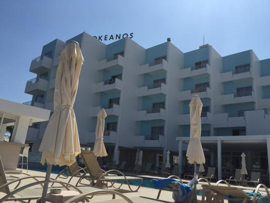 Okeanos Beach Hotel: General photos of the hotel and beach