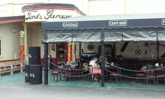 Another shot of outdoor seating picture of ford 39 s garage cape coral tripadvisor - Ford garage restaurant cape coral ...
