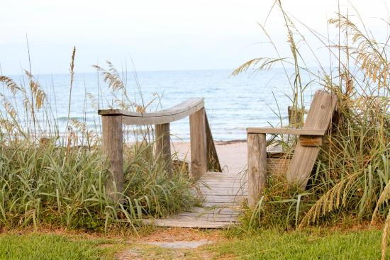 Oceanfront Paradise Resort : walkway/steps down to the beach