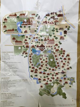 Map of Dhara Dhevi Hotel - Bild von The Dhara Dhevi Chiang Mai ... Chiang Mai Hotel Map on