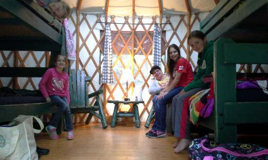 Wagon Trail Campground: Yurt Interior