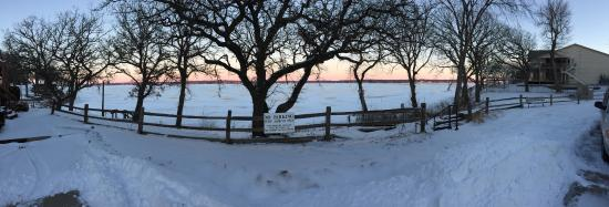 Village West Resort - West Lake Okoboji: Winter View of Lake