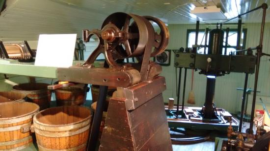 Fly Creek, NY: The old apple press and machinery