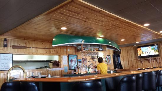 Mound House, NV: Bullwinkles bar with interesting decoration