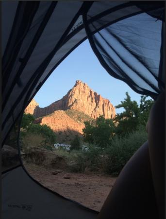 South Campground: View from tent!