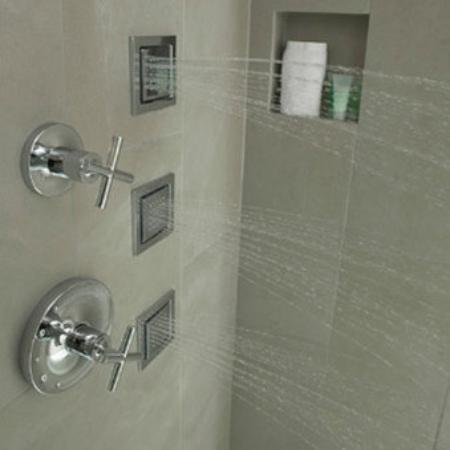inn on woodlake showers feature kohler watertile showerheads and b