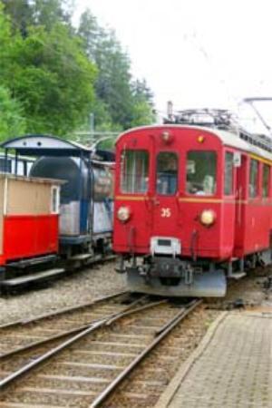 Railway Museum Blonay-Chamby : Triebwqagen RhB
