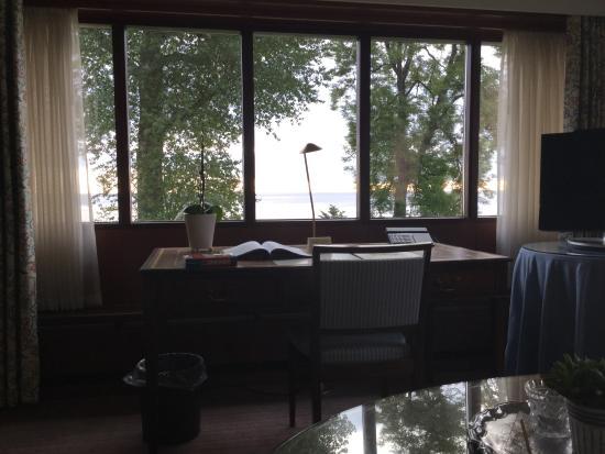 Hotel Hesselet : Blick aus dem Fenster der Strand Suite