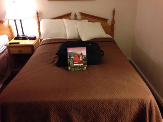 Fort Bragg Travelodge: Double bed, not queen