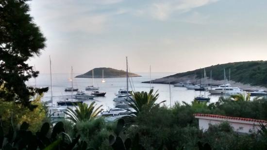 Palmizana Meneghello: View from the restaurant