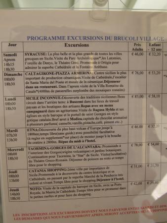 Brucoli, Italien: les excursions (moins chères pour les enfants)