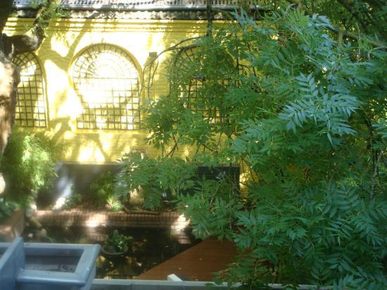 La Maison du Champlain : view into garden area at back