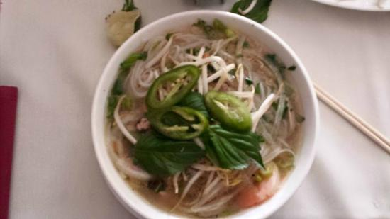 Bui Vietnamese Cuisine: Beef Pho with meatballs and shrimp