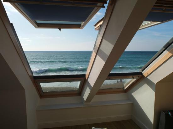 Tolcarne Beach Apartments: View from master bedroom